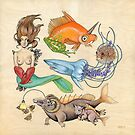 Here Fishy Fishy Fishy (Print) by Tara Krebs