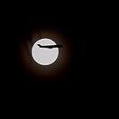 Moon and airliner by the57man