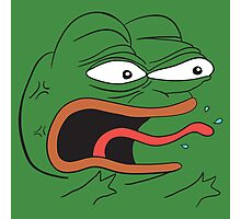 Angry Pepe the Frog - REEEEEEE Photographic Print
