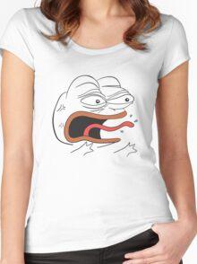 Angry Pepe the Frog - REEEEEEE Women's Fitted Scoop T-Shirt