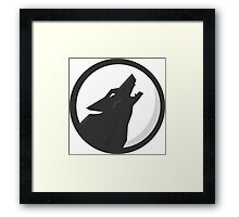 Full Moon Howling Wolf Framed Print