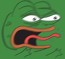 REEEEEEE - Angry Pepe the Frog (blur) by kebuenowilly