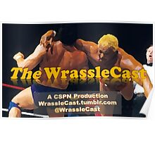 The WrassleCast logo Poster