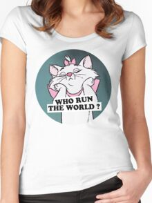 who run the world Women's Fitted Scoop T-Shirt