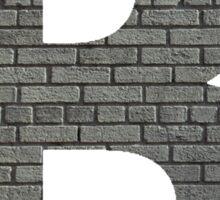 The Letter B - Brick wall Sticker