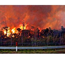 Fire On Alligator Alley April 22, 2009 Photographic Print
