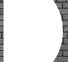 The Letter D - brick wall Sticker