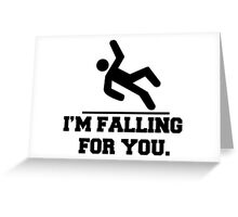 I'm Falling For You, Stickman Design & Quote Greeting Card