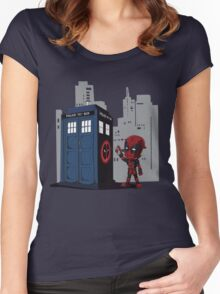 Defacing the Phonebox Women's Fitted Scoop T-Shirt