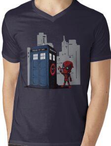 Defacing the Phonebox Mens V-Neck T-Shirt