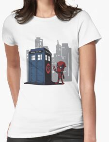 Defacing the Phonebox Womens Fitted T-Shirt