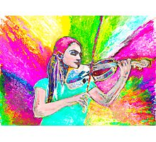Dance me ( Dance me to your beauty with a burning violin) Photographic Print