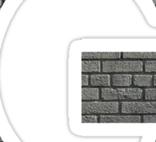 The Letter G - Brick wall Sticker