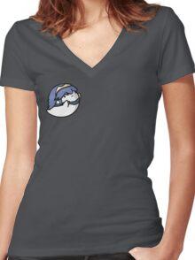 Super Smash Boos - Lucina Women's Fitted V-Neck T-Shirt