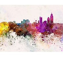 Mobile skyline in watercolor background Photographic Print