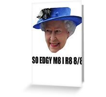 HAPY BURFDAY QUEEN Greeting Card