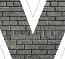 The Letter M - brick wall Sticker