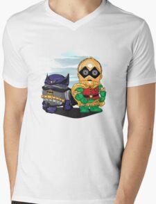 Bat-D2 and Rob-3PO Mens V-Neck T-Shirt