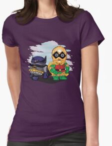 Bat-D2 and Rob-3PO Womens Fitted T-Shirt