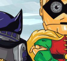 Bat-D2 and Rob-3PO Sticker