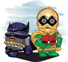 Bat-D2 and Rob-3PO by masciajames