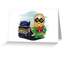 Bat-D2 and Rob-3PO Greeting Card