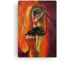 Sizzling Dance - Original Acrylic Painting for Sale. Canvas Print