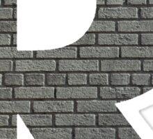 The Letter R - Brick wall Sticker