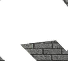 The Letter Q - brick wall Sticker