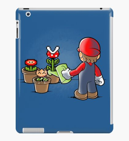 Mario gardener iPad Case/Skin
