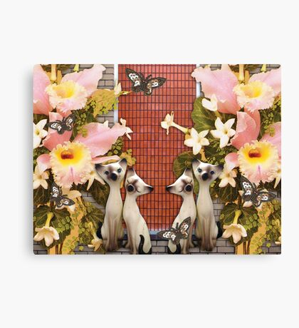 Kittens and Flowers and Butterflies, O My! Canvas Print