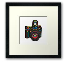 Black Camera Framed Print