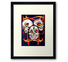 Three Fiery Skulls Framed Print