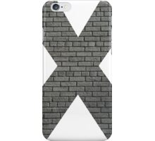 The Letter X - Brick wall iPhone Case/Skin