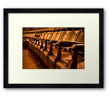 Overstuffed Theatre Chairs Framed Print