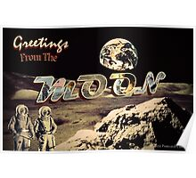 Greetings From The MOON Poster