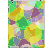Stained glass colorful geometric mosaic pattern iPad Case/Skin