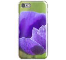 Purple Anemore Flower  iPhone Case/Skin