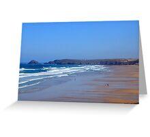 Droskyn Point, Perranporth Cornwall.. Greeting Card