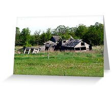 Abondoned on the Prairies Greeting Card
