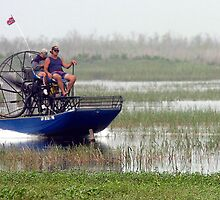 Airboating the Kissimee by Larry  Grayam