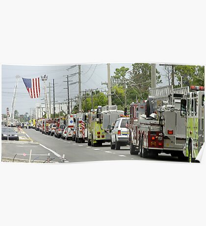 Firefighter funeral procession Poster