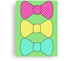 Kawaii Polka dot bow Canvas Print