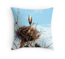 Sea Eagle on Nest Throw Pillow