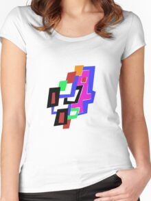 Geometric Man Women's Fitted Scoop T-Shirt