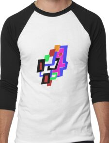 Geometric Man Men's Baseball ¾ T-Shirt