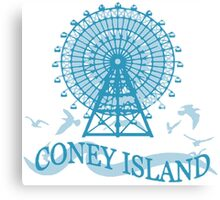 Coney Island - New York. Canvas Print