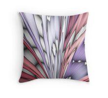 Pastel Splashes Abstract Throw Pillow