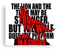 The Wolf Does Not Perform Canvas Print