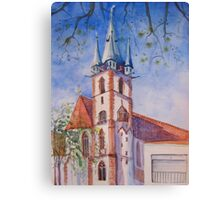 Spring in Durlach  Canvas Print